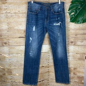 American Eagle | Men's Slim Straight Distressed